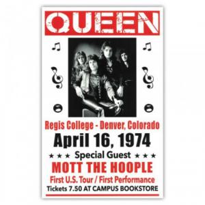 queen en groupe affiche de concert