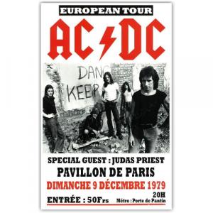 La tournée européenne d'AC/DC