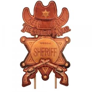 pnneau déco métal sherif