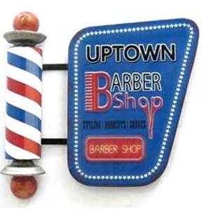 plaque metal vintage barber
