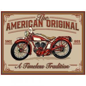 plaque metal vintage american indian